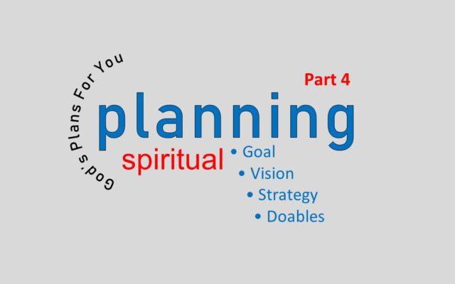 SPIRITUAL PLANNING IS NOT