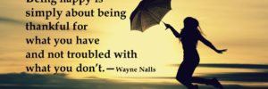 NEVER CONFUSE WANT WITH NEED