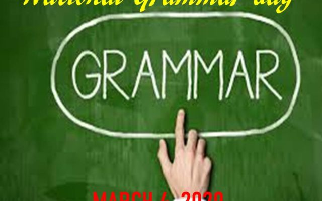National Grammar Day